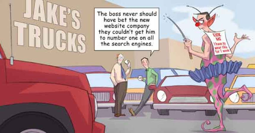 Comic – July 2010 – Number One on the Search Engines