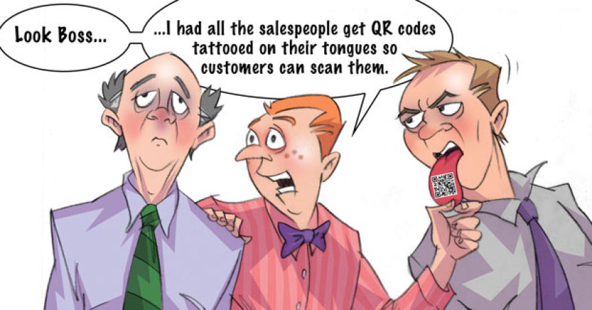 Comic – May 2011 – QR Tags