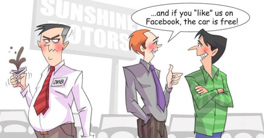 Comic – October 2011 – Like Us on Facebook