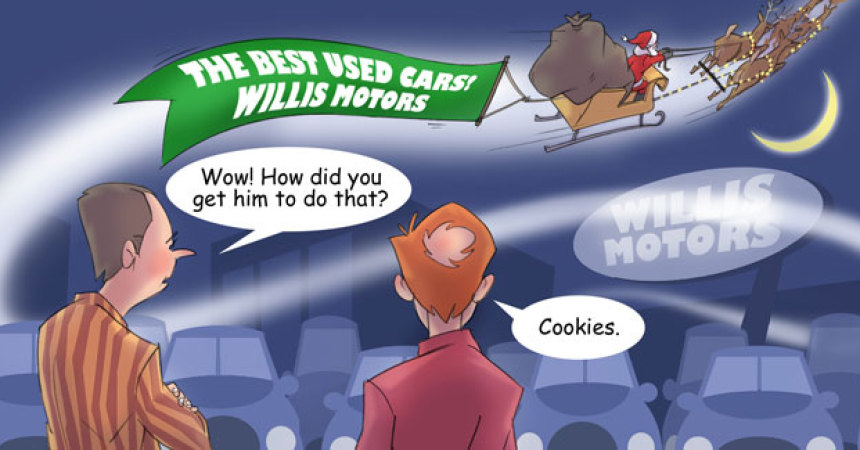 Comic – December 2012 – Santa Sells