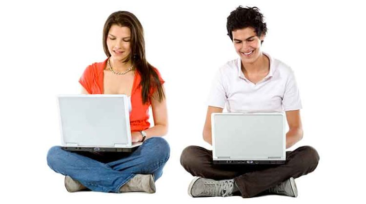 Young people with computers