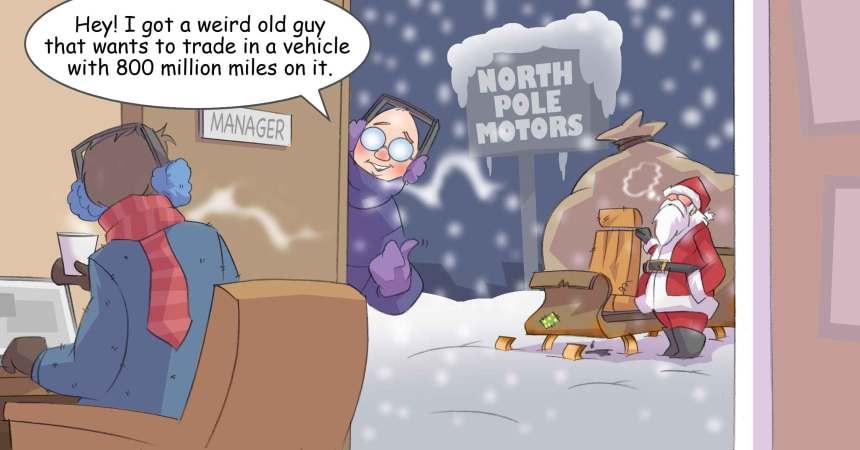 Comic – December 2013 – North Pole Motors
