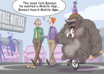 Comic – September 2014 – Mobile Apes