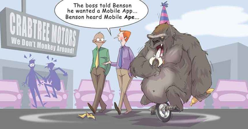 Comic – September 2014 – Mobile Apes