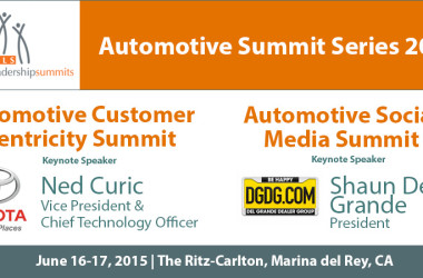 Automotive Summit Series to Feature Keynotes by Toyota Motor Sales and the Del Grande Dealer Group